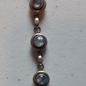 Sterling Silver and Moonstone Bracelet